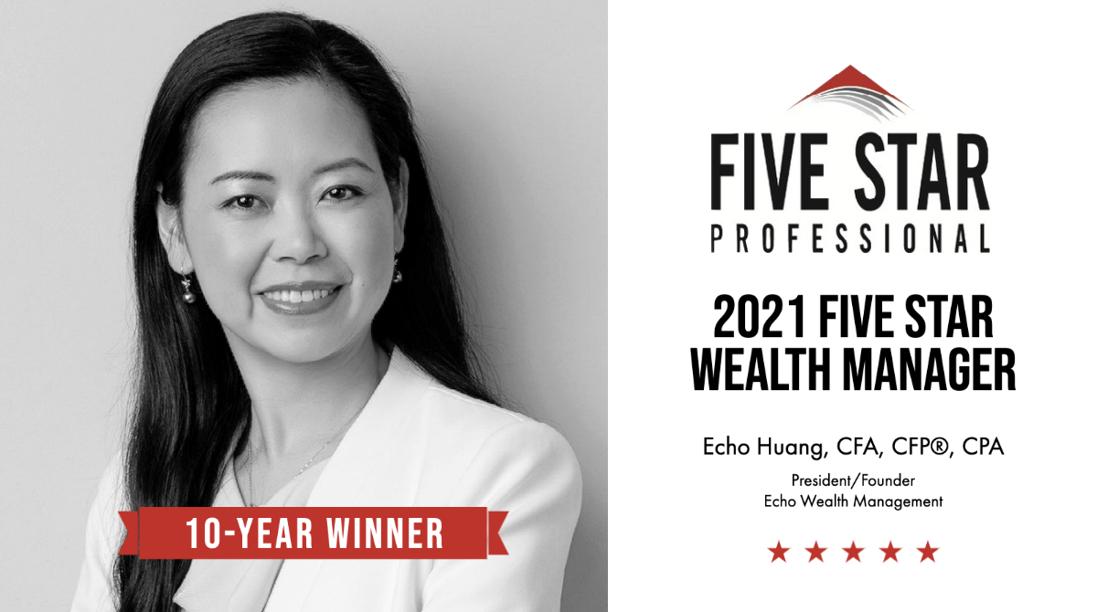 Founder Echo Huang Awarded the Five Star Wealth Manager Award for the 10th Time!