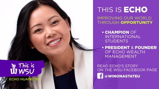 Echo Huang is Featured by Winona State University News Center Today